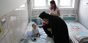 """Hramul Capelei """"Sfinţii Doctori fără de arginţi Chir şi Ioan"""" de la Spitalul de Copii din Galaţi"""