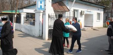 Spitalul şi Centrul de carantină din Tecuci, precum şi persoanele izolate la domiciliu au primit sprijin din partea Arhiepiscopiei Dunării de Jos