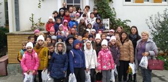 Elevi în vizită la Centrul eparhial al Arhiepiscopiei Dunării de Jos
